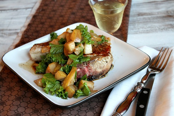 Pan Seared Pork Chops with Pear Mostarda Recipe