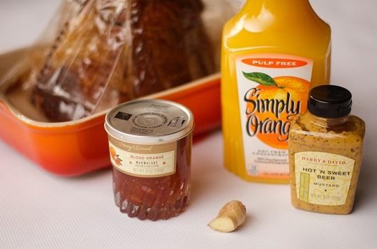 blood orange ham glaze recipe ingredients