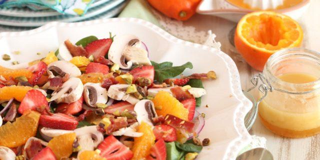 Refreshing HoneyBell Citrus Spinach Salad Recipe and Dressing