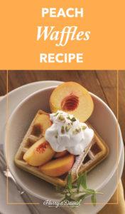 Easy Peach Waffles Recipe