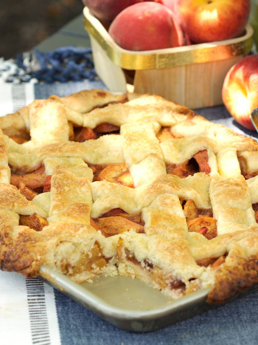 Peach Pie Recipe - Slab Edition