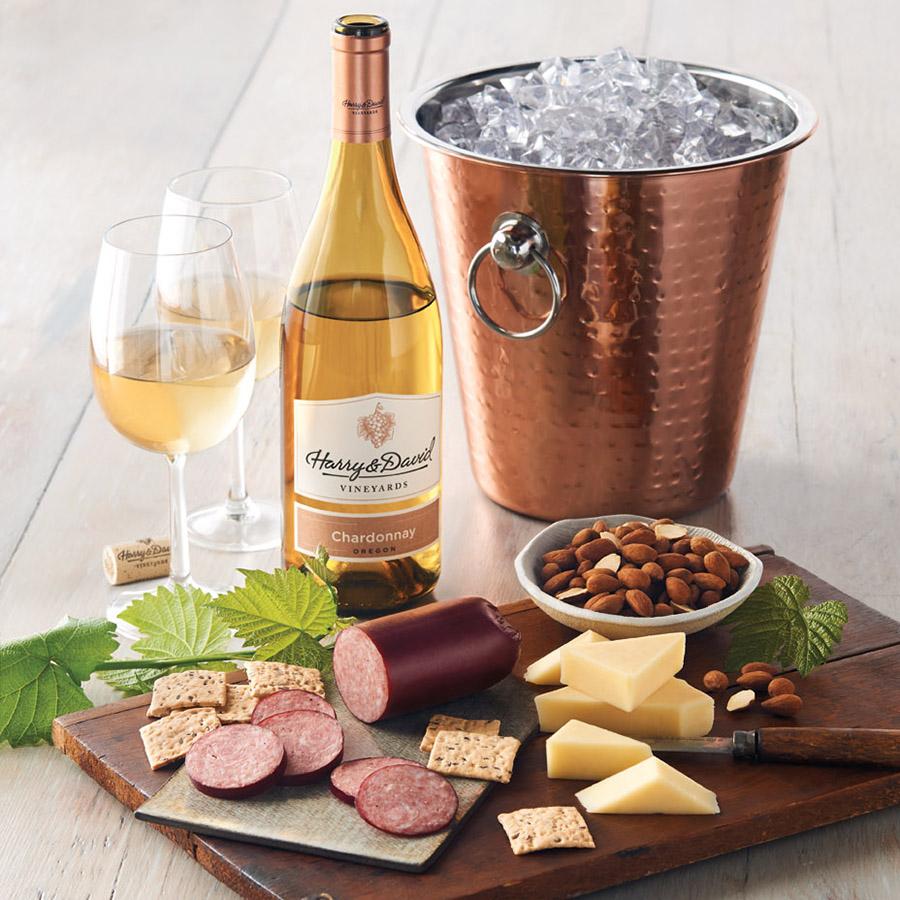 copper wine gift basket gift for wine lover