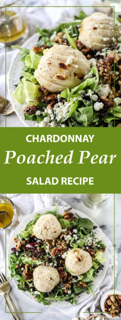 poached pear salad recipe