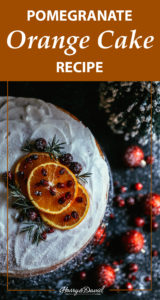 Pomegranate Orange Cake Recipe