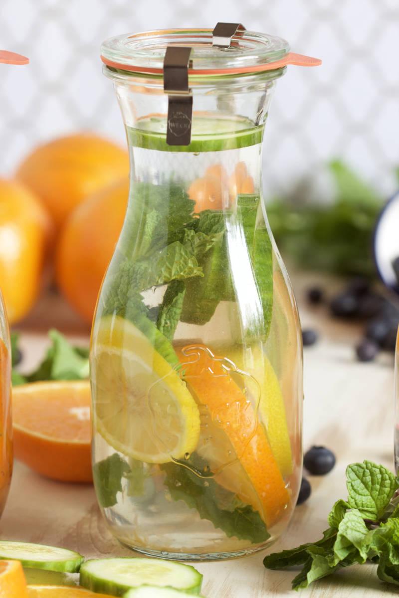 Honeybells, Cucumber and Mint water