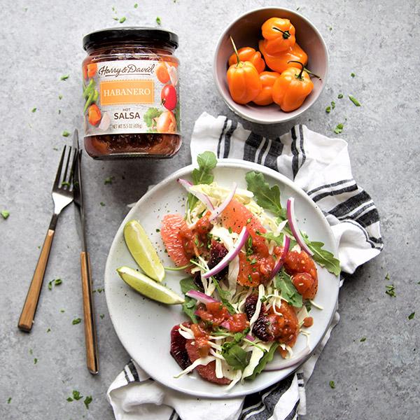citrus salad with habanero salsa