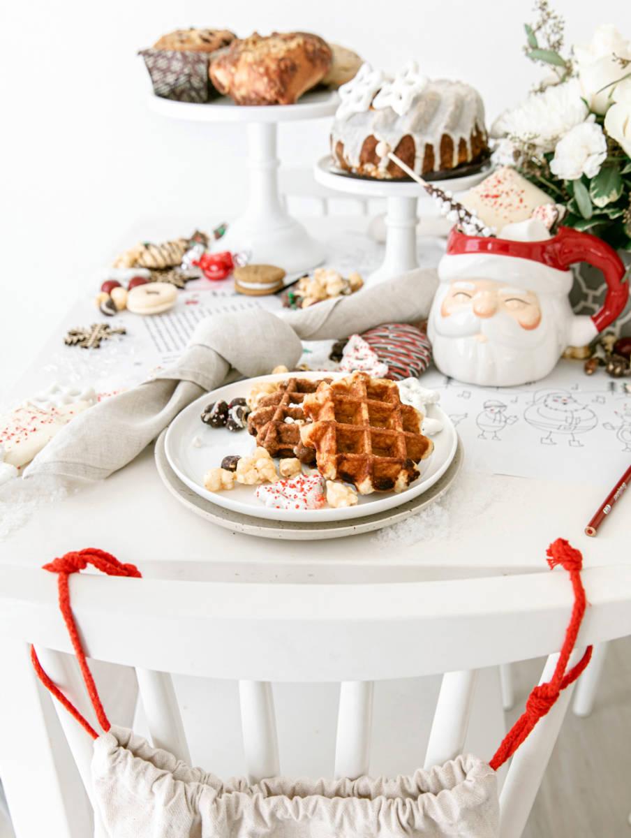 christmas breakfast table
