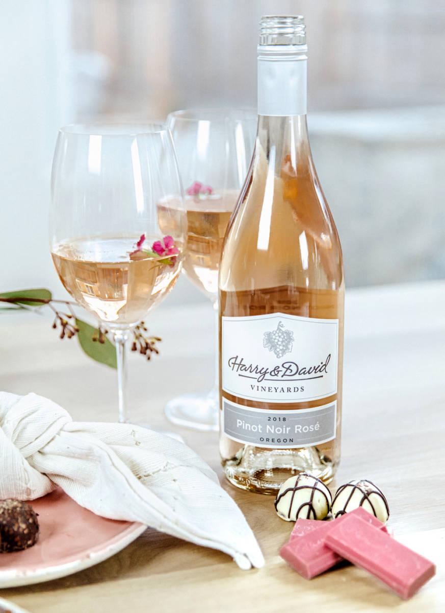 rosé wine and chocolate pairings