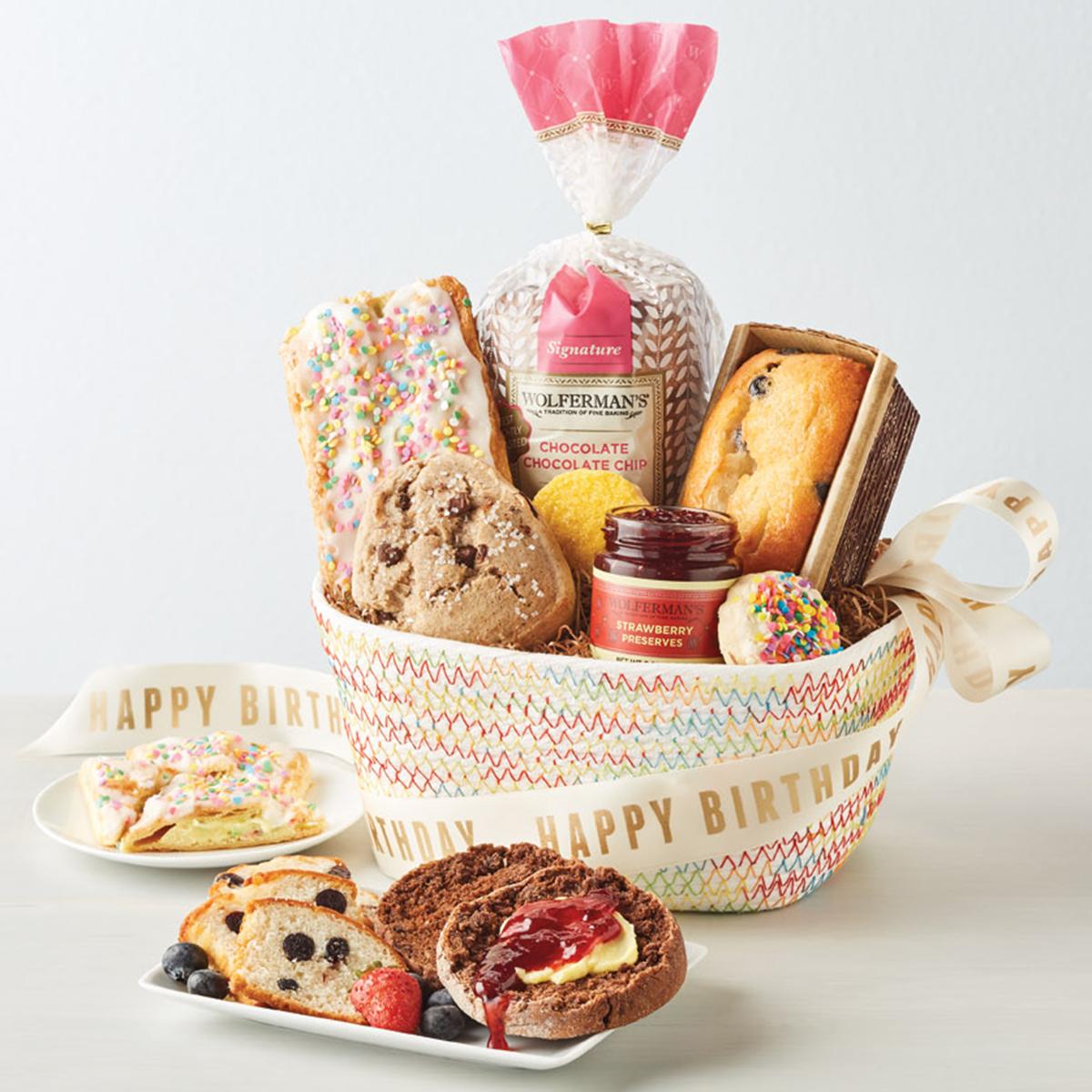 Wolferman's Bakery birthday breakfast gift