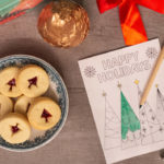 printable Christmas cards with Harry & David cookies