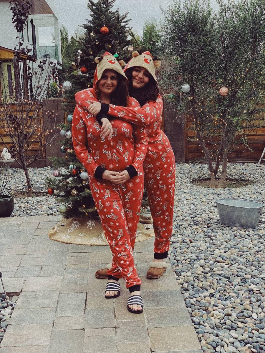 Antonia and Xea at Christmas
