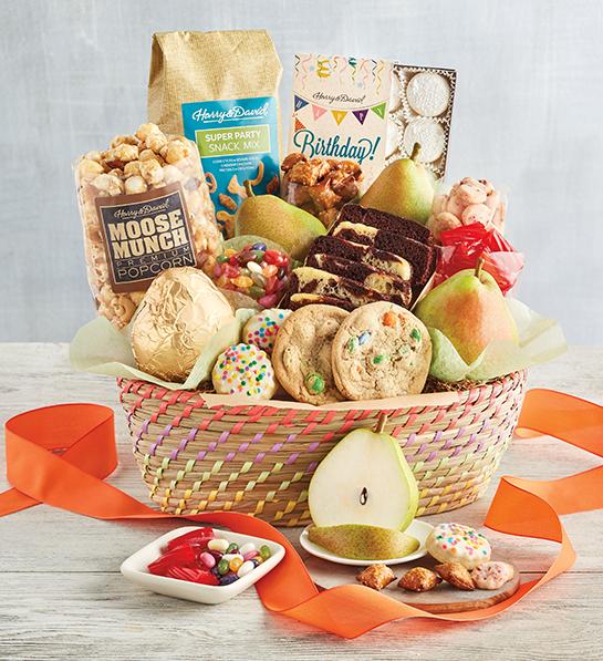 Birthday gifts image - deluxe birthday basket