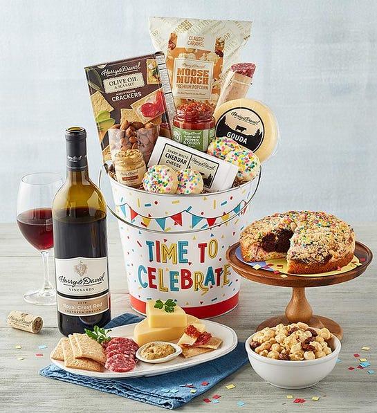 Birthday gifts image - Harry & David deluxe happy birthday wine gift