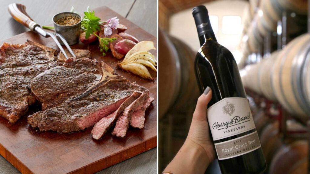 Fall wine pairings image - Harry & David wine with lamb porterhouse