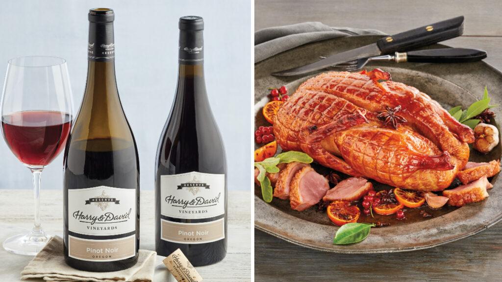 Fall wine pairings image - Harry & David Pinot Noir with duck